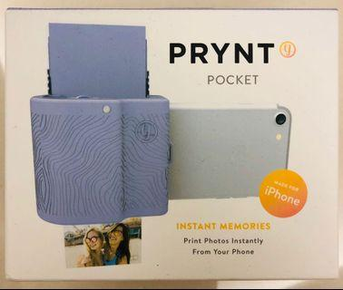 全新 Prynt Pocket (Lavender) Instant Memories Print Photo from iPhone 即影即有手機 pocket