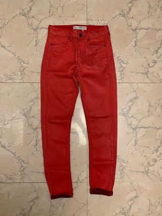 Topshop red leigh super soft skinny jeans 牛仔褲