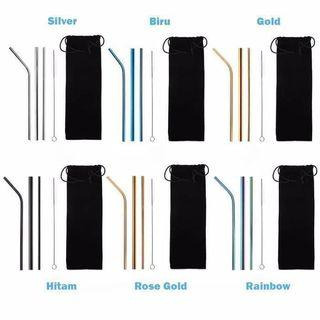 SEDOTAN STAINLESS STRAW STAINLESS 5 in 1 POUCH