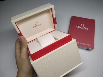 OMEGA 錶盒OMEGA  瑞士歐米茄 腕表盒 名錶盒 有說明書 watch box