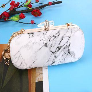 Marble clutch bag
