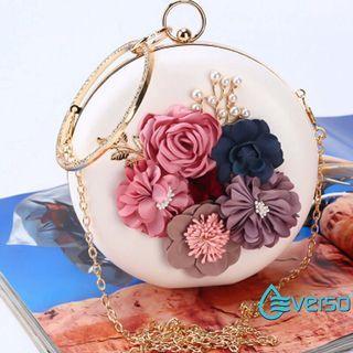 Clutch floral round