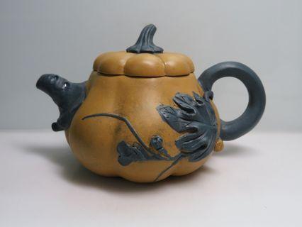 🚚 [老茗器]紫砂壺~黃段泥 匏瓜壺 多孔 蔣蓉款 280CC.