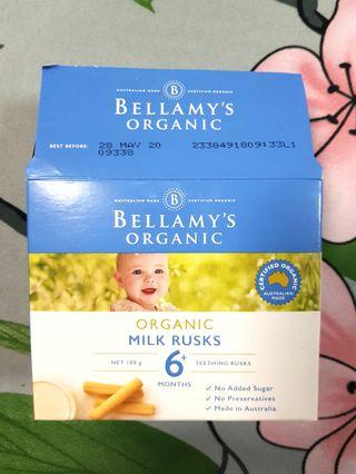 Bellamy organic teething milk rusks