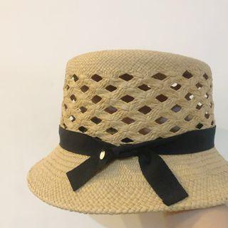 日本CA4LA蝴蝶結編織草帽