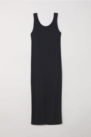 H&M knit body con rubbed tank dress