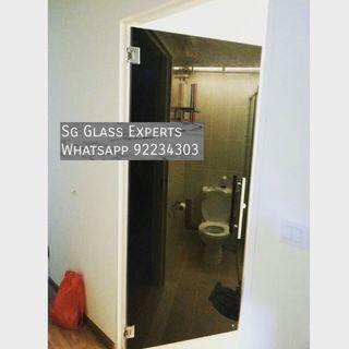 🚚 Tea tinted glass swing door renovation