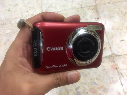Canon Powershot A495 Red Colour