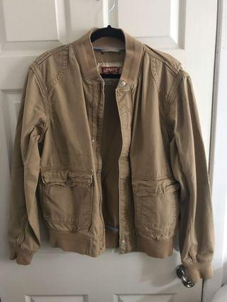 Levi's beige jacket in Medium