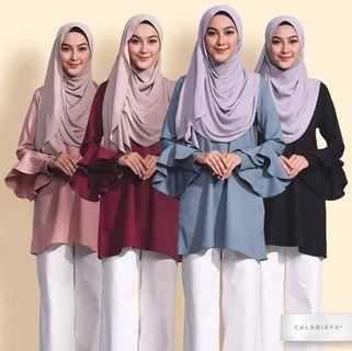 Calaqisya hafiyah blouse in maroon L