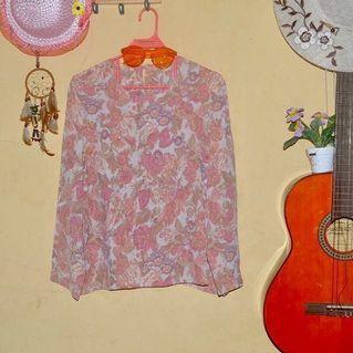 Kemeja blouse Bunga