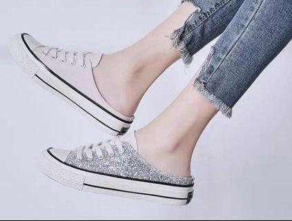 $13.90* Mailed Brand New Pastel Pink + Glitter Sneaker