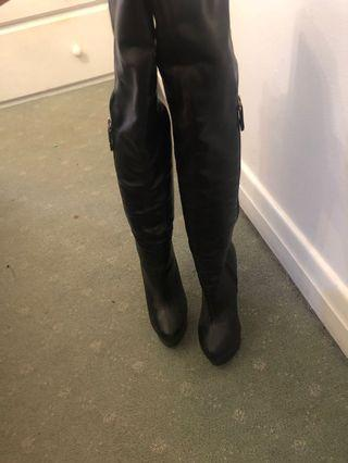 REAL LEATHER ITALIAN HIGH KNEE BOOTS