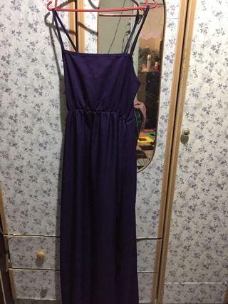 Dark purple Long dress