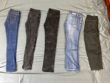 牛仔褲 5條