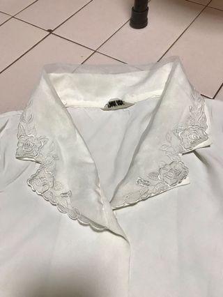 White TOP - japan vintage