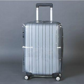 Transparent PVC Suitcase Protector Cover Durable Travel Luggage Case
