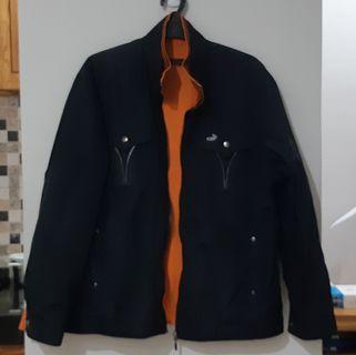 CROCODILE Jacket 2-Ways (Bolak-Balik) Black-Orange | #BAPAU