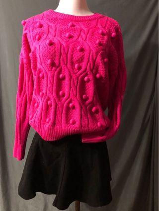 桃紅色 冷衫