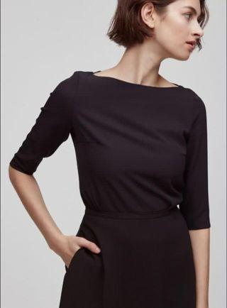 BNWT OSN Our Second Nature Boat Neck Top in Black