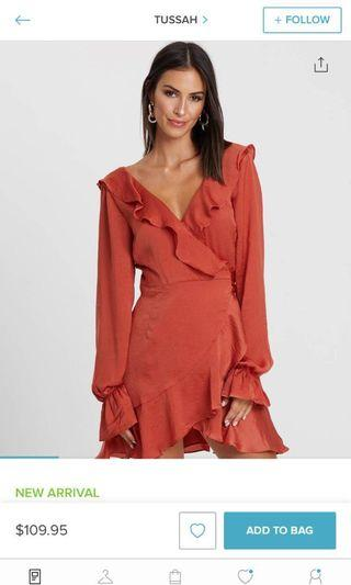 Tussah Wrap Dress