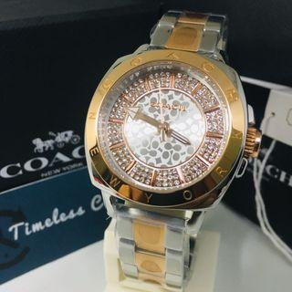 Jam Tangan Coach Diamond Bracelet Stainless Steel Original