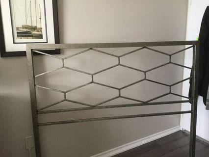 Queen size headboard (silver)