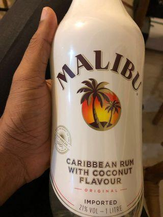 Malibu coconut rum 1 Litre. FREE 2-hour delivery. Cash on delivery. 24/7. Free gift wrapping