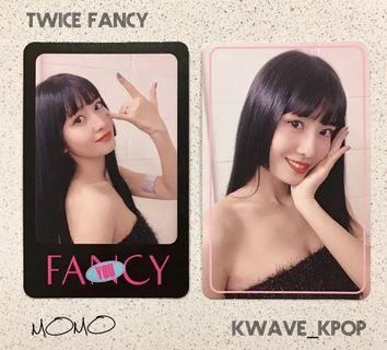 TWICE {FANCY YOU} MEMBER MOMO - 2 PIECES OFFICIAL PHOTO CARD ONLY