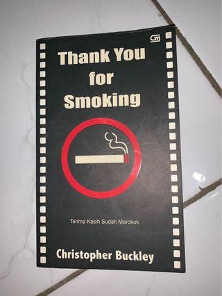"""Buku """"Thank You for Smoking"""" by Christopher Buckley"""