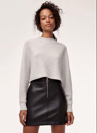 Aritzia Roxanne leather skirt