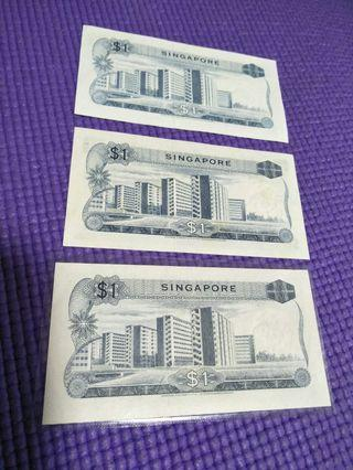 3pc of sg old  $1 orchid $2 notes