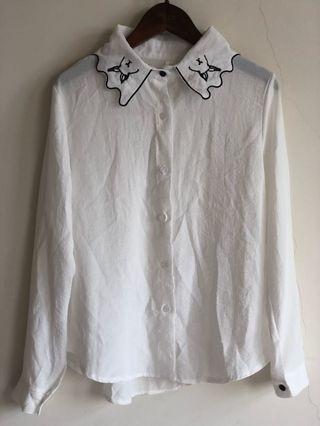 🚚 兔子領設計 襯衫 古著風 學院風