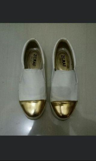 White&Gold shoes