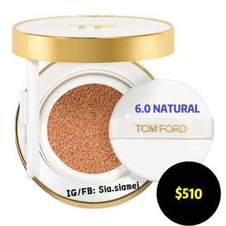 TOM FORD 柔光水瀅白氣墊粉餅 (6.0 NATURAL) GLOW TONE UP FOUNDATION SPF 40/PA+++ HYDRATING CUSHION COMPACT 12g