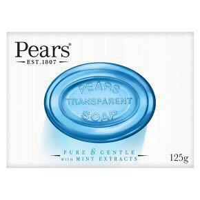 Pears germishield soap with mint extract 3 x 125g