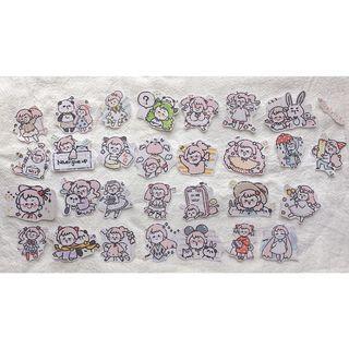 •┈┈┈┈┈┈୨୧┈┈┈┈┈┈• 手剪貼紙包 $17 30張 ♡、。・:*:・゜`♥*。・:*:・゜`♡ »Yii 大師兄 •┈┈┈┈┈┈୨୧┈┈┈┈┈┈•
