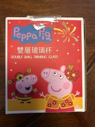 Peppa pig glass