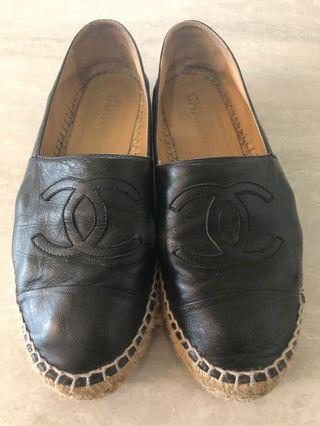 Chanel Black Espadrilles