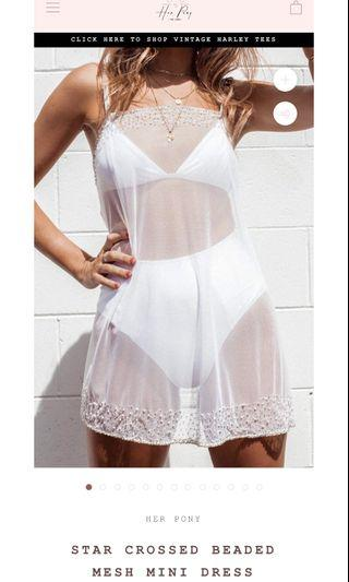 Her Pony Mesh Dress Brand New Tags Attached