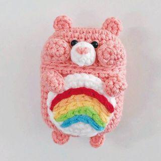 Care Bear Cheer Bear Handmade Airpods Case Crochet