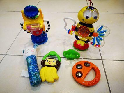 High chair toys and teethers