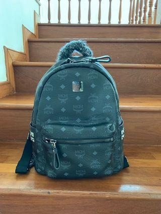 💯 Authentic Mcm stark backpack small black
