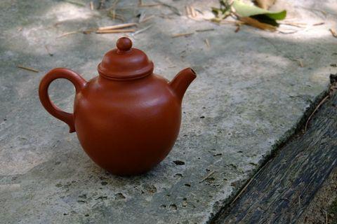 清中 朱泥 茶壺