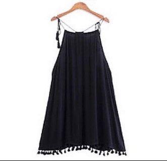 度假流蘇性感吊帶裙Dress #summer19
