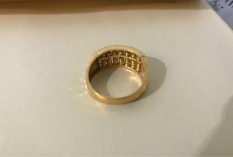 Abacus 916 gold ring