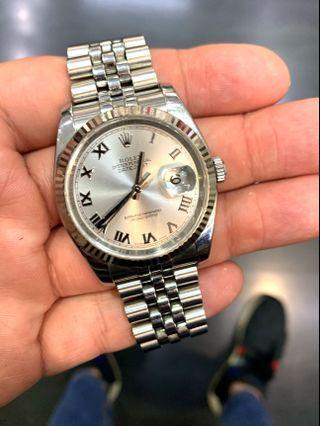 Rolex Datejust 36mm, 116234 Silver Roman