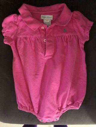 Polo Ralph Lauren chicken swear clothing 6m pink 粉紅色 BB衫