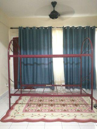 Double Decker Bed (katil besi stainless steel)