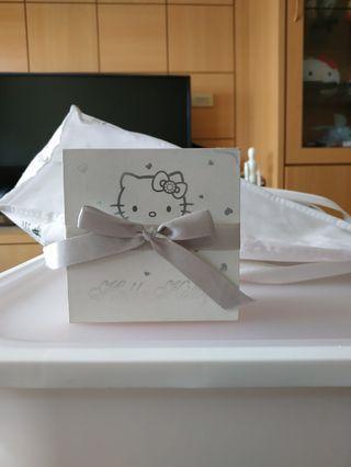 Hello Kitty 甜蜜約定 銀飾項鍊 附保證卡